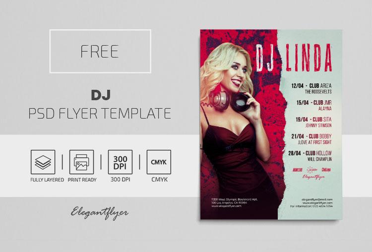DJ – Free PSD Flyer Template