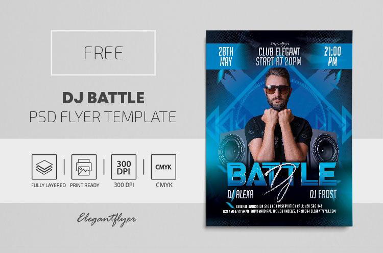 DJ Battle – Free PSD Flyer Template