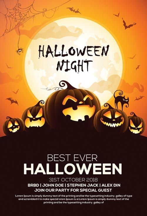 Free Flyer Templates for Halloween