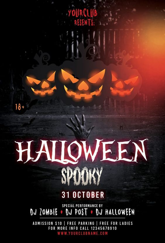 Halloween Spooky PSD Flyer Template For Free