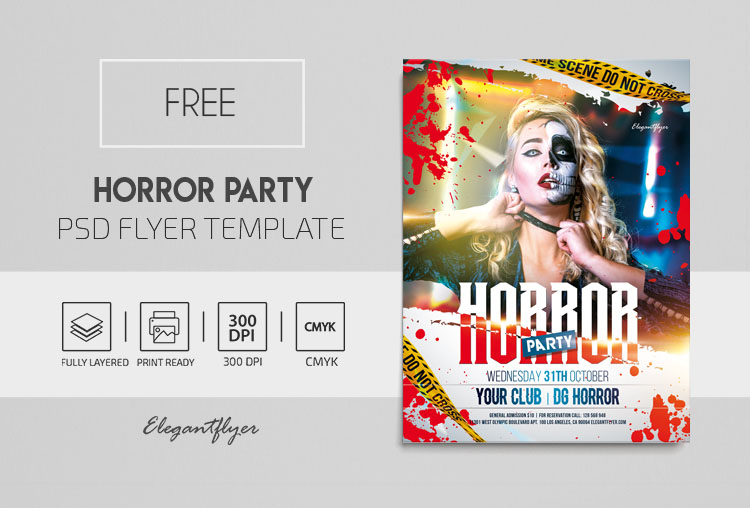 Horror Party – Free Flyer PSD Template