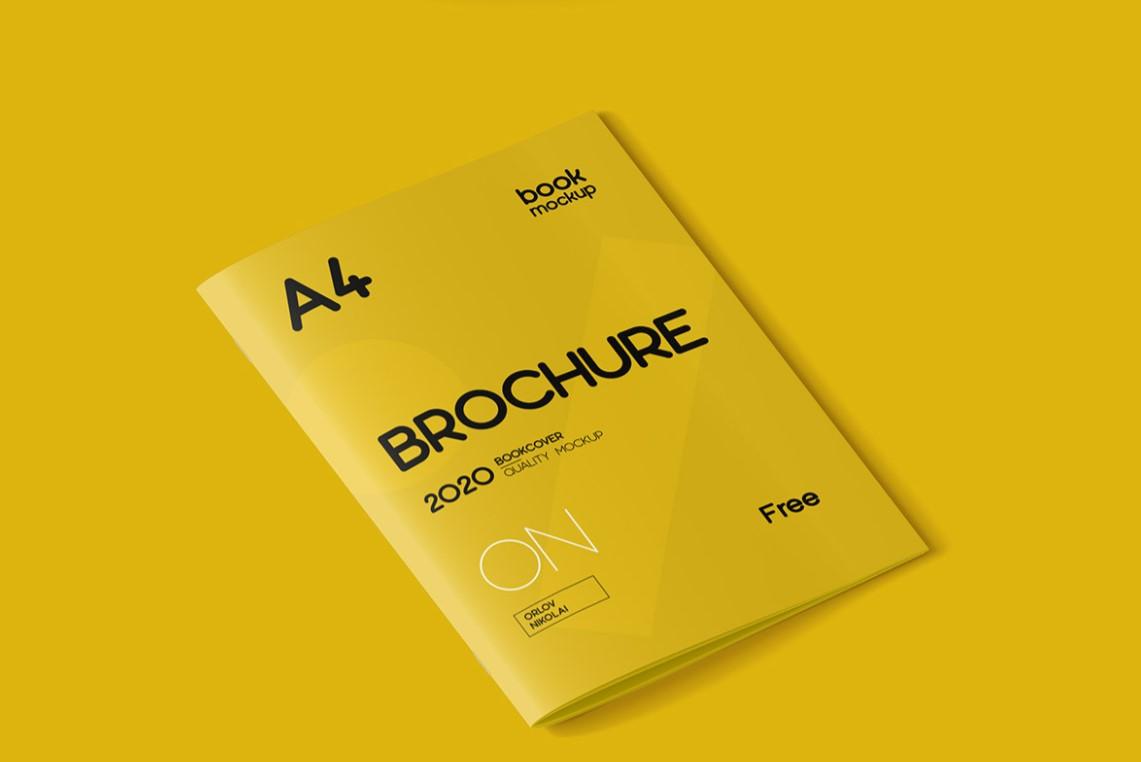 Free A4 Brochure Mockup Template