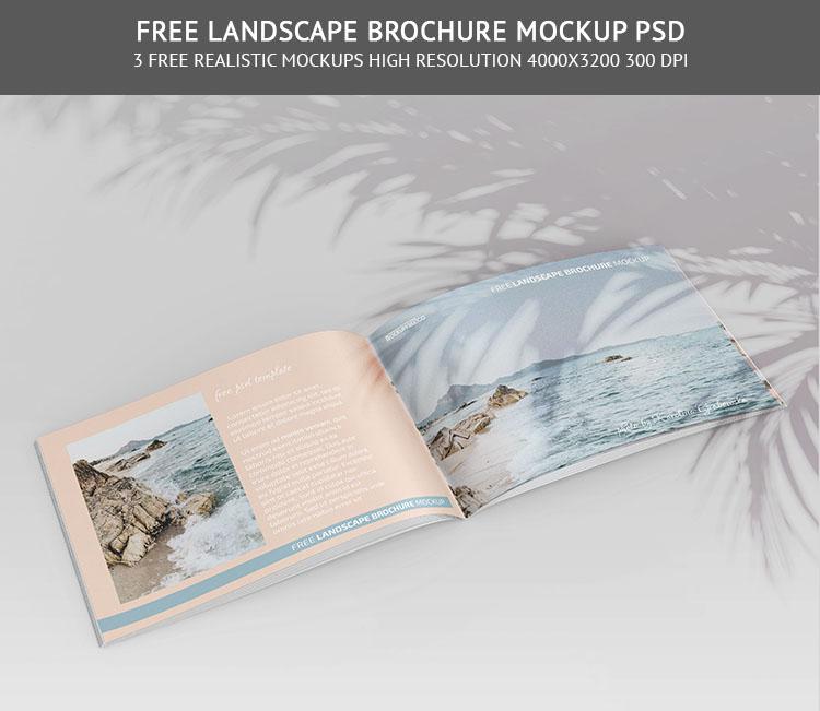 Free Landscape Brochure Mockup PSD