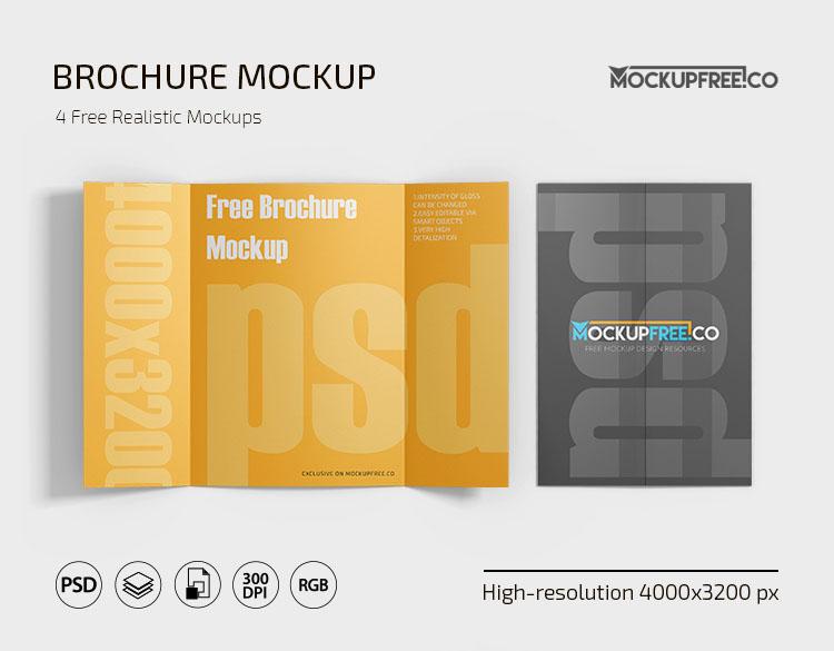 Free PSD Brochure Mockup Template