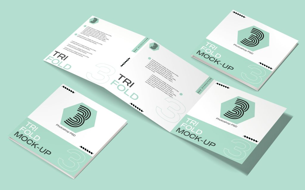 Free Square Tri-fold Brochure Template