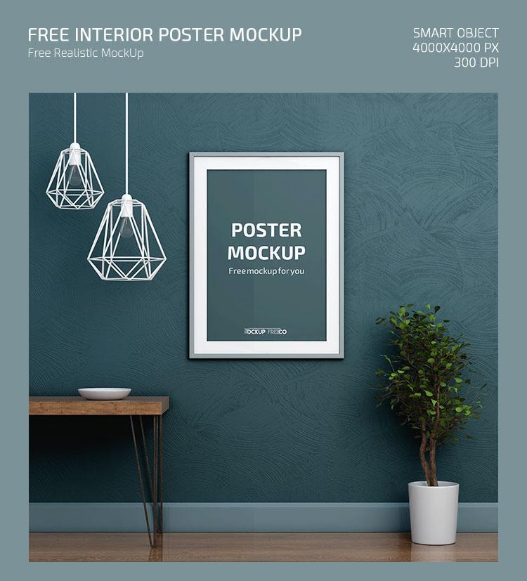 Interior Poster – Free PSD Mockup