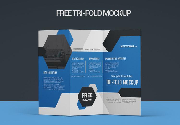 Tri-fold – 2 Free PSD Mockups
