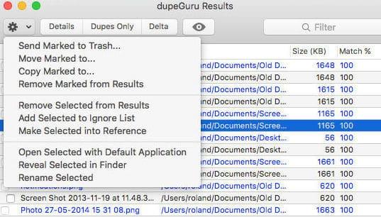 dupeGuru duplicate file finder for Mac