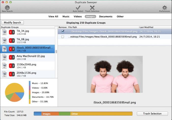 duplicate sweeper for Mac